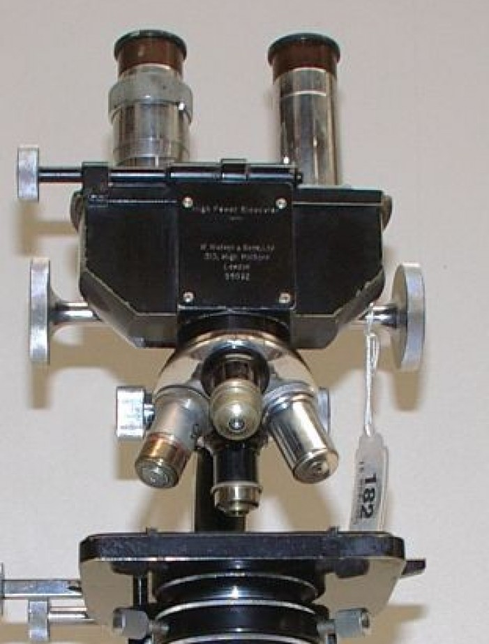 Watson & Sons Ltd Bactil microscopi antichi, vintage microscopes, microtome, microtomes