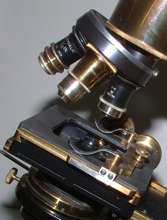 Watson & Sons Edimburgh - Stand H microscopi antichi, vintage microscopes, microtome, microtomes